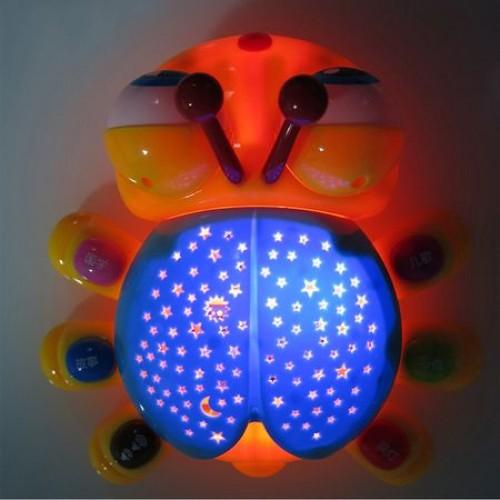 Lampa de veghe cu proiector micul gandacel