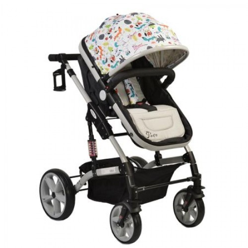 Carucior transformabil 2 in 1 Pavo Grey
