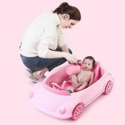 Cadita copii tip masinuta Bebeking Pink