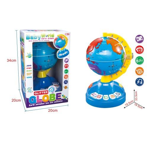 Glob pamantesc interactiv Glitter