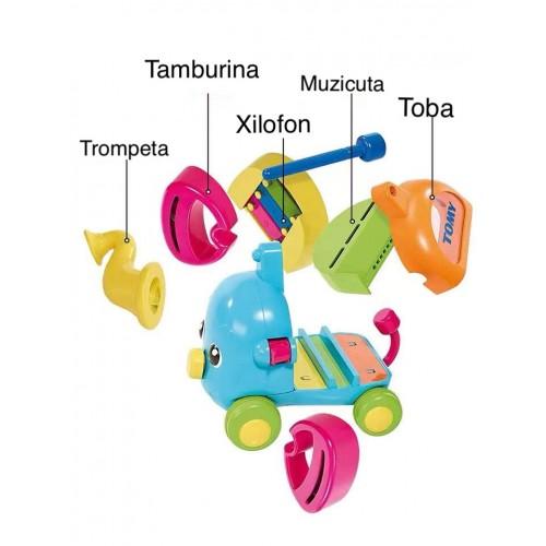Jucarie Elefantul muzical, Tomy