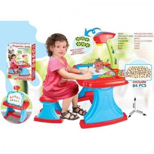 Birou cu proiector si scaunel pentru desen Jeanine