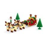 Joc de construit 228 piese Bebeking Santa Slegde
