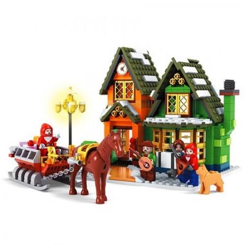 Joc de construit 860 piese Bebeking City Building Blocks