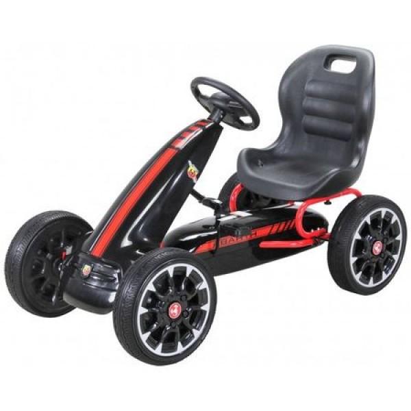 Kart cu pedale Bebeking Abarth Negru