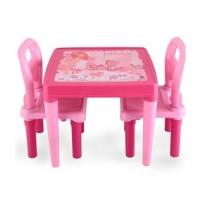 Masuta cu scaunele Little Girl Pink