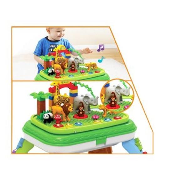 Masuta educativa tip lego Jungle Party Bebeking