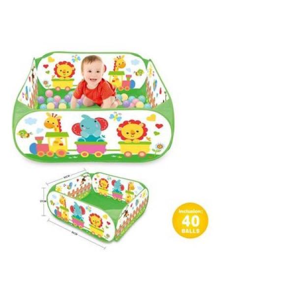 Piscina cu 40 bile pentru copii Bebeking