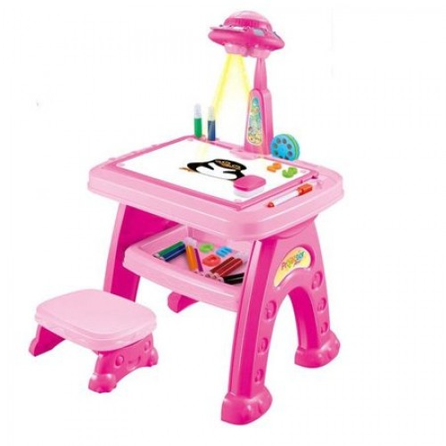 Set birou cu tablita,proiector si scaunel Bebeking
