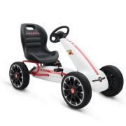Kart cu pedale Bebeking Abarth Alb