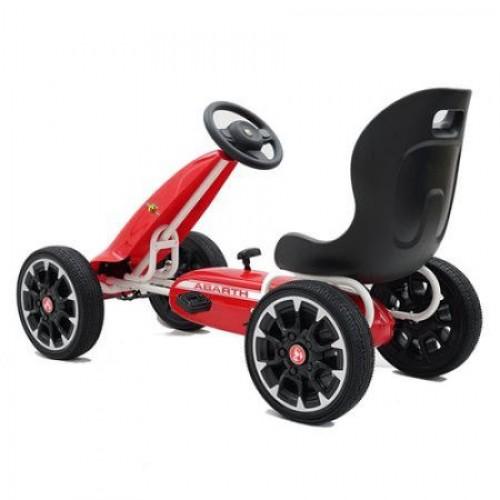 Kart cu pedale Bebeking Abarth Rosu