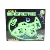 Set constructie magnetic Magic Glow 26 piese