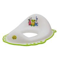 Adaptor toaleta Bear alb cu verde