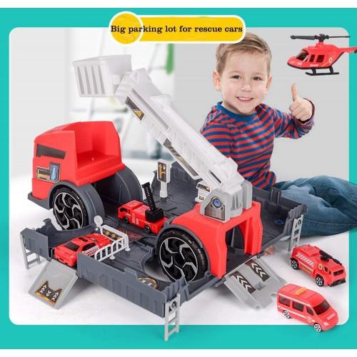 Set de joaca masina de pompieri rosu