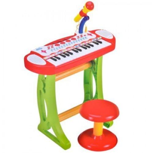 Set orga  muzicala cu microfon si scaunel